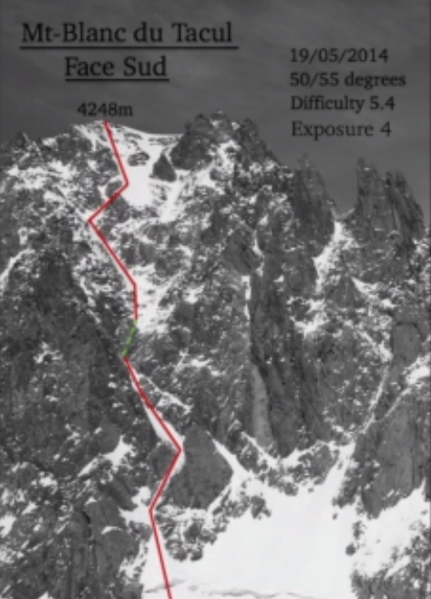 Mont Blanc Tacul - Face Sud